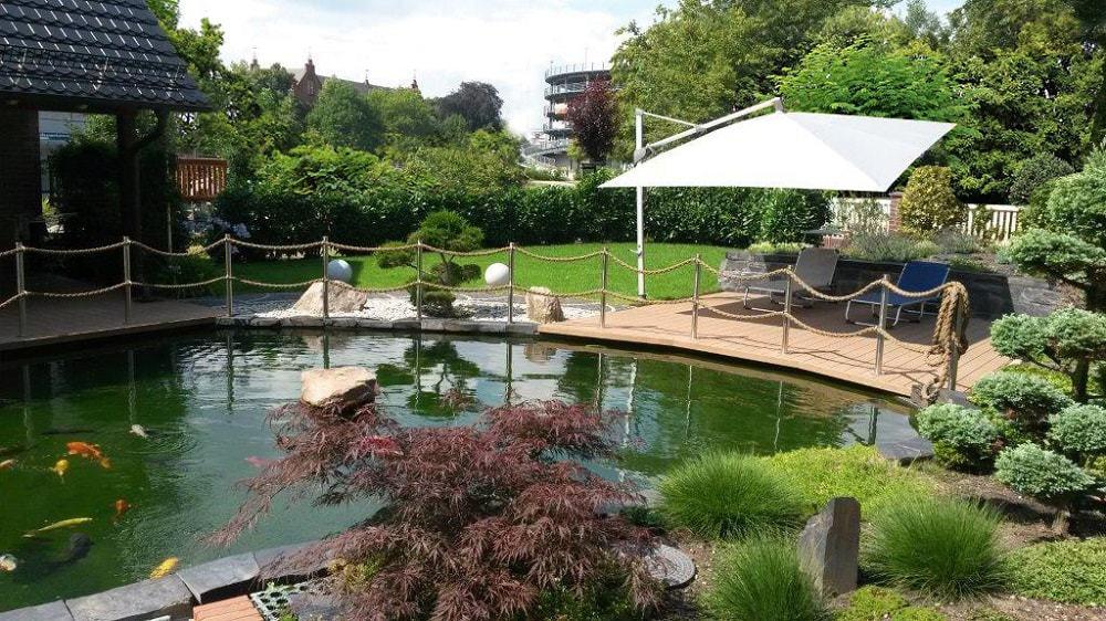 Außenanlage - Apartments Stadt- und Parkblick